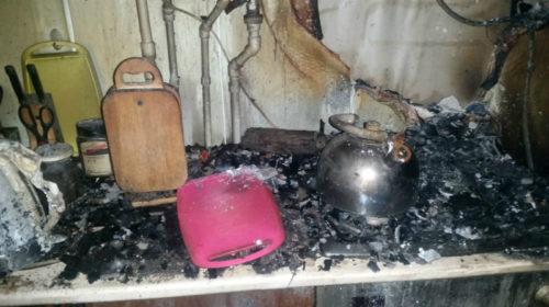 Пожар унес жизнь шахтинца