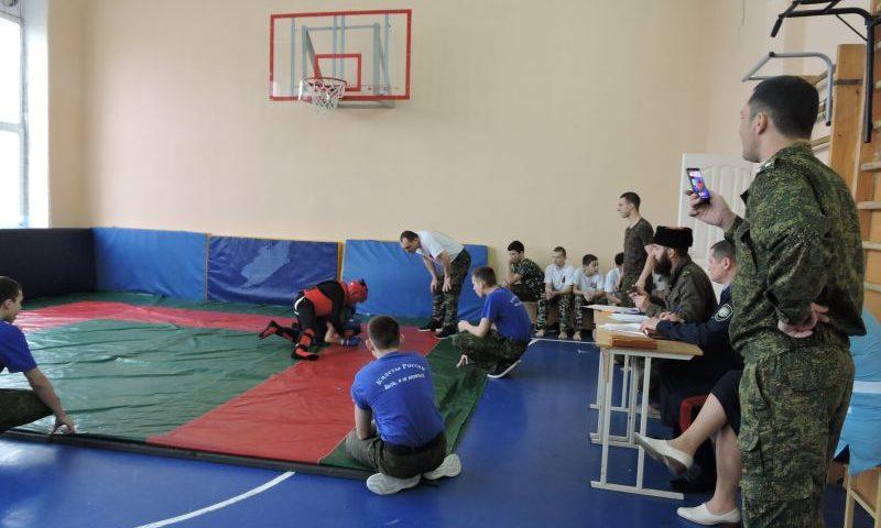 В Шахтинском Я.П. Бакланова казачьем кадетском корпусе прошли соревнования по рукопашному бою