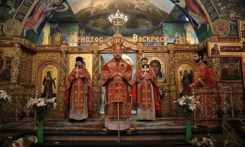В соборе Покрова Пресвятой Богородицы города Шахты отметили самый главный церковный праздник Светлое Христово Воскресение