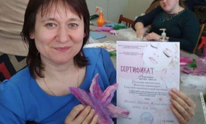 Шахтинские педагоги провели семинар-практикум в г.Шахты «Женские украшения в русской традиционной культуре»