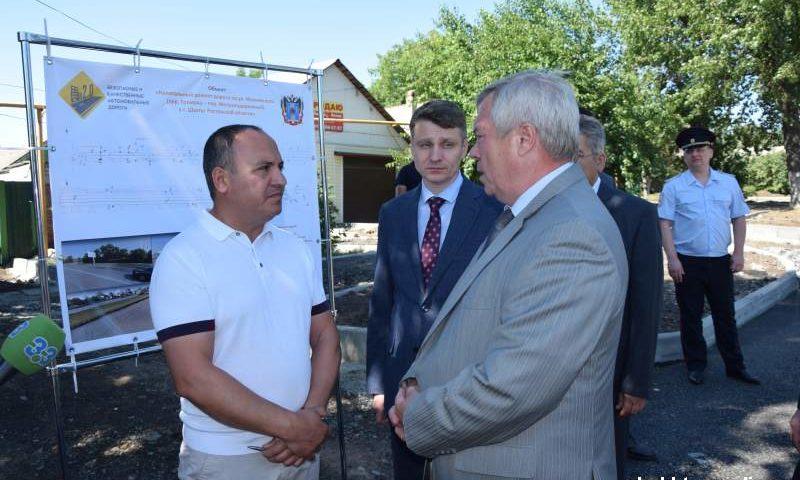 Губернатор Ростовской области проконтролировал ход ремонтных работ на улице Маяковского