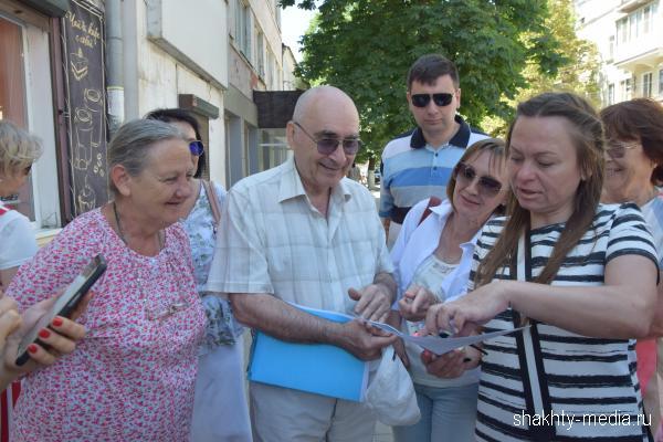 Медиа-экскурсия была организована по центральной улице г. Шахты