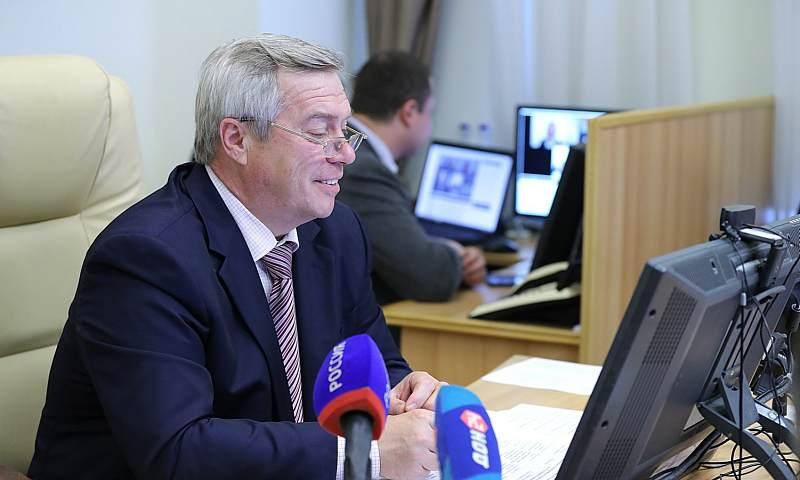 Василий Голубев провел интерактивный прием граждан