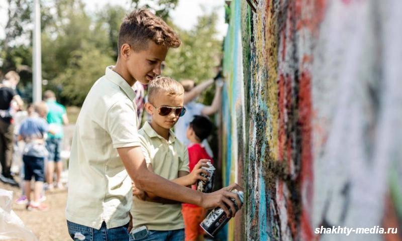 В Шахтах прошел первый в городе мастер-класс по рисованию граффити