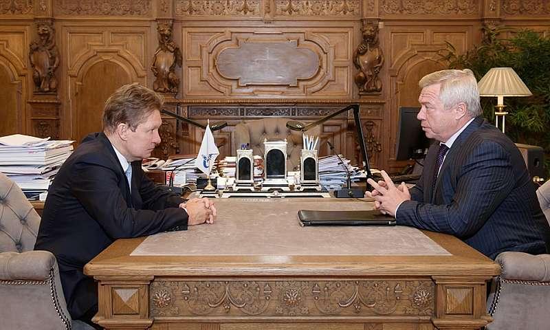 Донской губернатор встретился с главой «Газпрома»