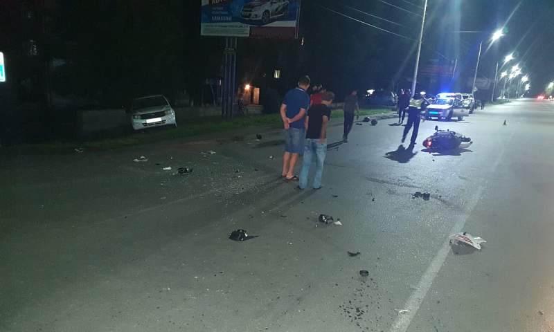 В Шахтах в поселке им.Артема несовершеннолетний мотоциклист совершил аварию