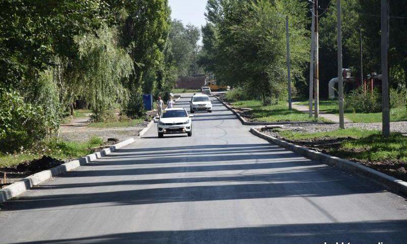 Завершен ремонт участка автомобильной дороги по улице Искра г. Шахты