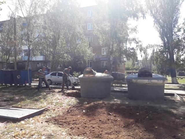 В Шахтах установили заглубленные контейнеры для мусора