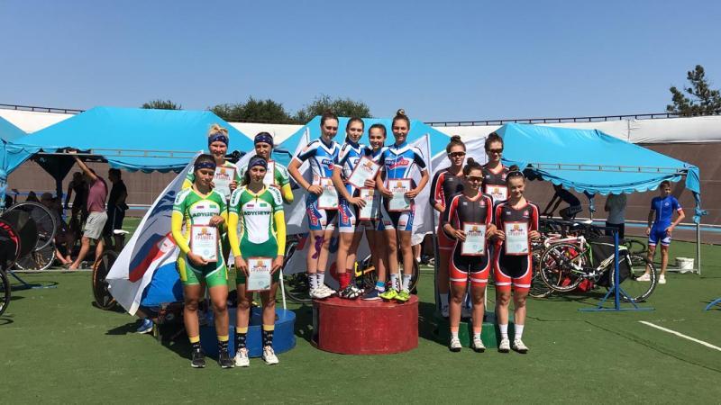 Шахтинские велосипедистки заняли призовые места в первенстве России