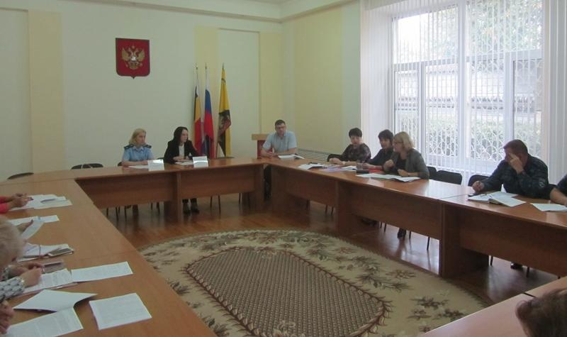 В Шахтах прошло координационное заседание комиссии по делам несовершеннолетних и защите их прав