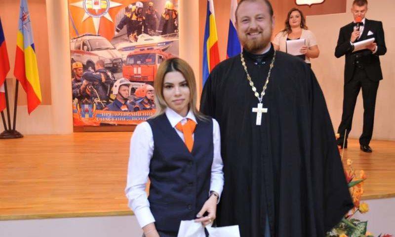 Представители духовенства Шахтинской епархии поздравили лучших сотрудников «Службы-112» с трехлетием