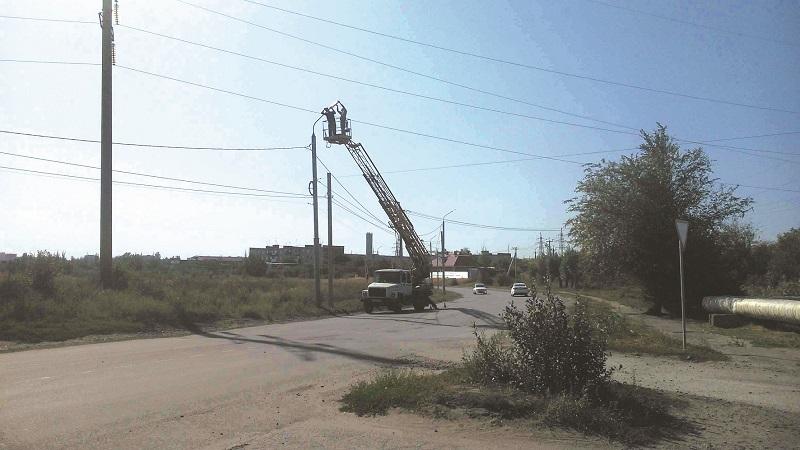 В поселке ХБК г. Шахты установили новые светильники