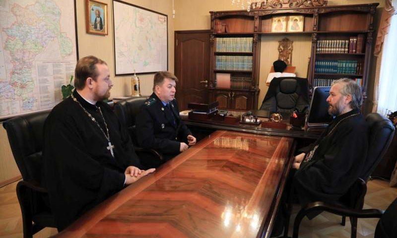 Епископ Шахтинский и Миллеровский Симон и замначальника Погрануправления по РО, полковник С.А. Степанов провели рабочую встречу