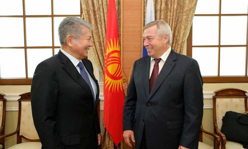 Губернатор Василий Голубев встретился с Чрезвычайным и Полномочным Послом Киргизии Аликбеком Джекшенкуловым