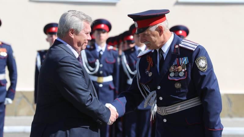 Губернатор встретился с избранным атаманом Всевеликого войска Донского Виталием Бобыльченко
