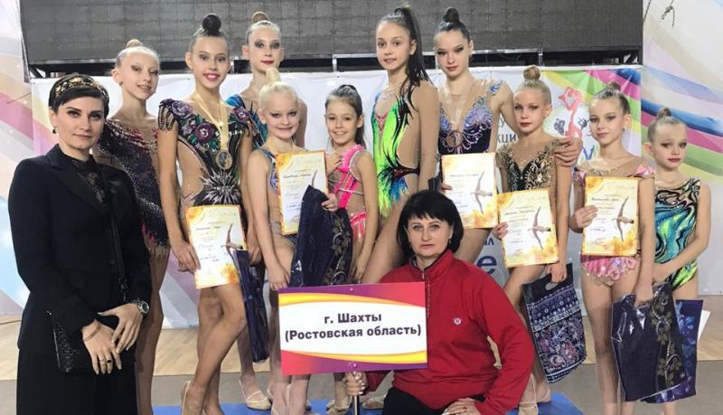 Шахтинские спортсменки стали победительницами турнира по художественной гимнастике