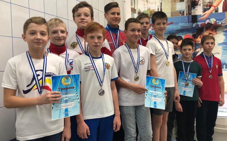 Команда г. Шахты заняла второе место в областных соревнованиях по плаванию