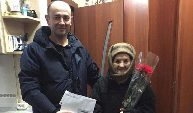 Участницу Великой Отечественной войны Веру Шахмину поздравили с 95-летним юбилеем