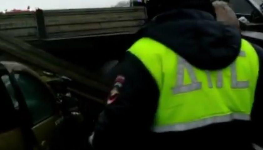 Четыре транспортных средства столкнулись на трасcе  М-4 «Дон». Есть погибшие (видео с места аварии)