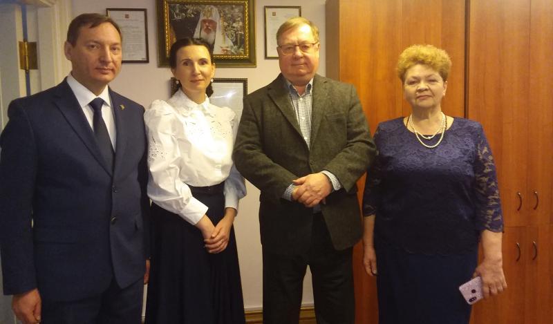 Древлехранитель Шахтинской епархии посетил Московский центр Императорского Православного Палестинского Общества
