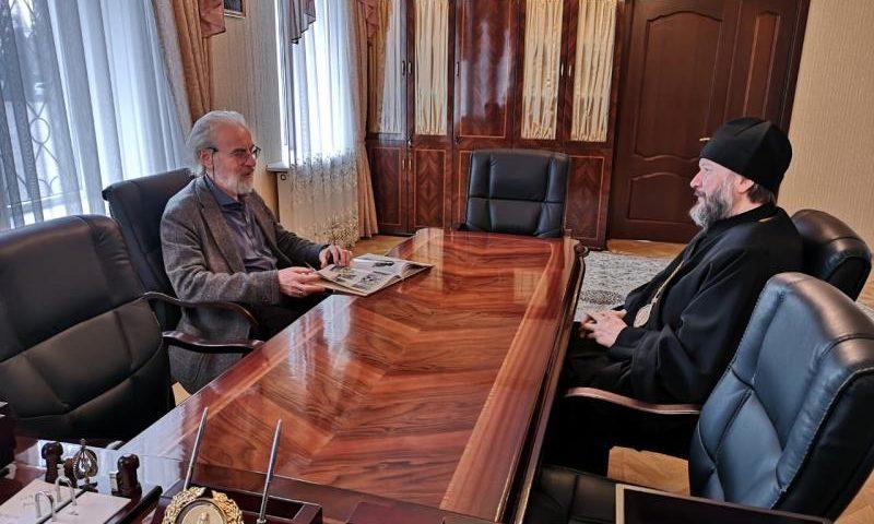 Епископ Симон встретился с исследователем современного религиозного сектантства А.Л. Дворкиным