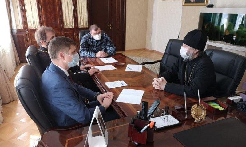Глава администрации г. Шахты и епископ  Симон провели встречу по вопросам, связанным с празднованием Пасхи Господней
