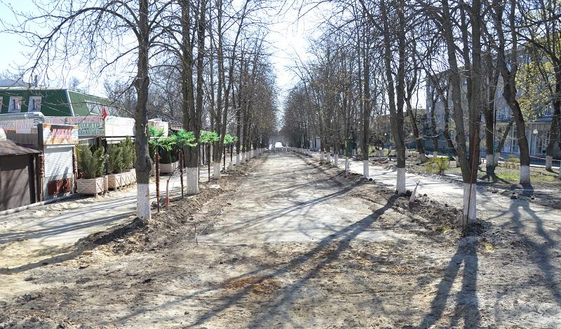 Реконструкция Александровского парка продолжается (фоторейд)