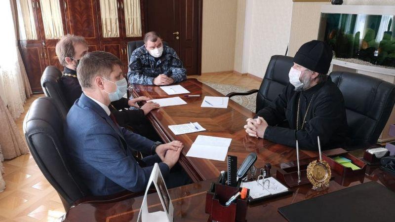 Глава администрации г.Шахты обсудил с епископом Шахтинским и Миллеровским Симоном план празднования Пасхи Господней в сложившейся эпидемиологической ситуации