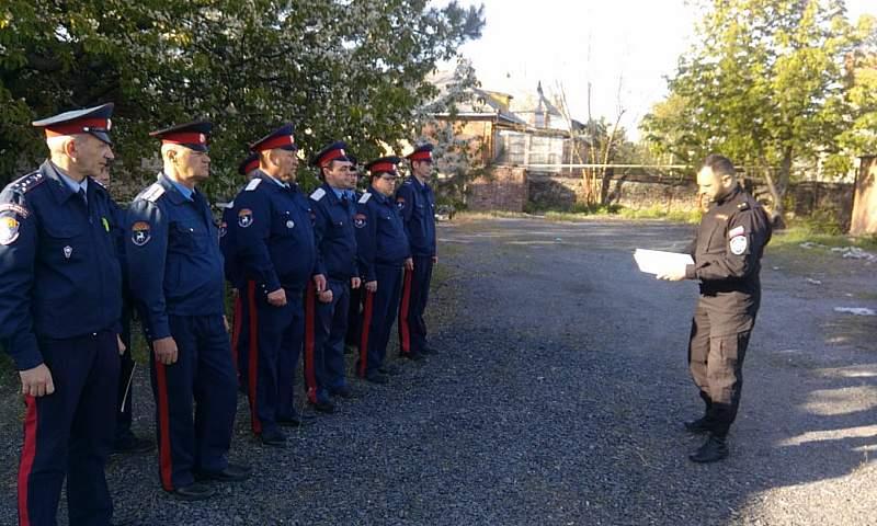 Казаки казачьей дружины г. Шахты получили благодарственные письма от администрации города
