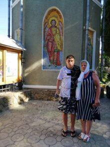 Татьяна Лазаренко с сыном Николаем