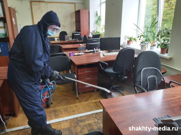 Из-за выявления коронавируса проведена дезинфекция здания бывшего «Ростовугля»