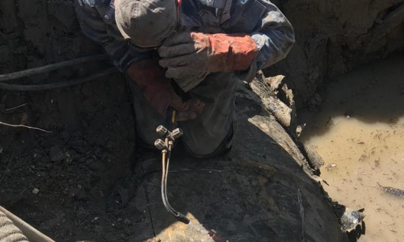 На очистных сооружениях города Шахты ведутся аварийно-ремонтные работы