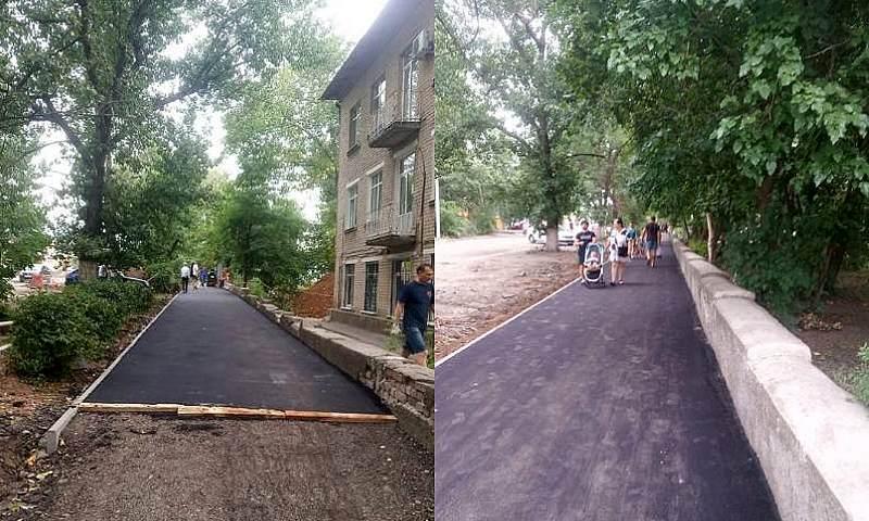 В Шахтах продолжается благоустройство улицы Шевченко