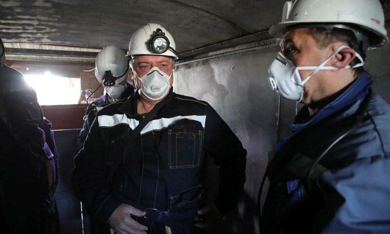 Губернатор Василий Голубев посетил шахтоуправление «Обуховское» в г. Зверево