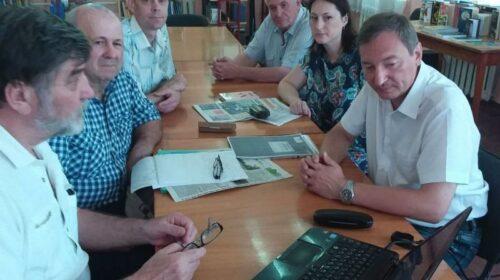 Епархиальный древлехранитель Илья Шарков принял участие в работе клуба шахтинских краеведов