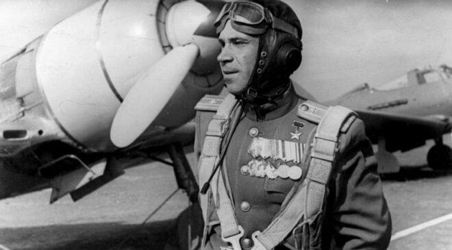 «Лица Победы».Борис Ковзан  лично сбил 28 вражеских самолетов