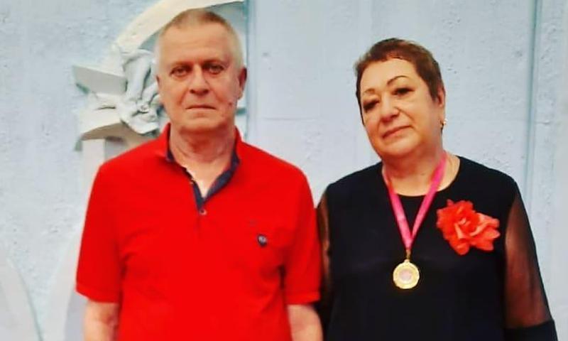 Супруги Щербаковы отметили сапфировую свадьбу