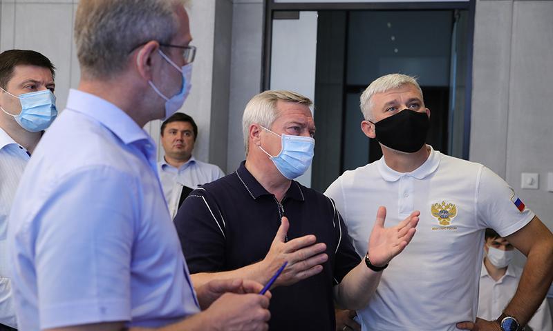 Василий Голубев представил Евгению Дитриху проект транспортного кольца вокруг Ростова