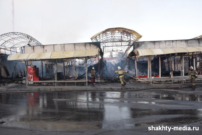 Собственник сгоревших ларьков на центральном рынке г.Шахты планирует построить торговый центр