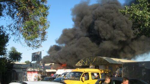 Как начинался пожар на центральном рынке в г.Шахты. Фотографии очевидцев