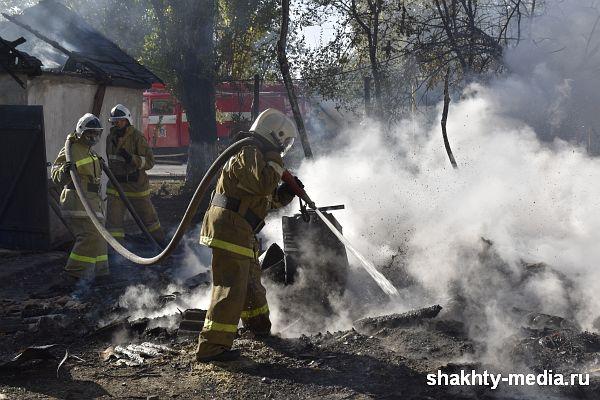 В Новошахтинске в поселке Самбек областные спасатели ликвидировали пожар