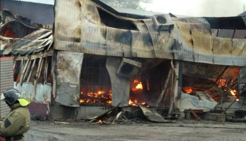 В Шахтах произошел еще один крупный пожар