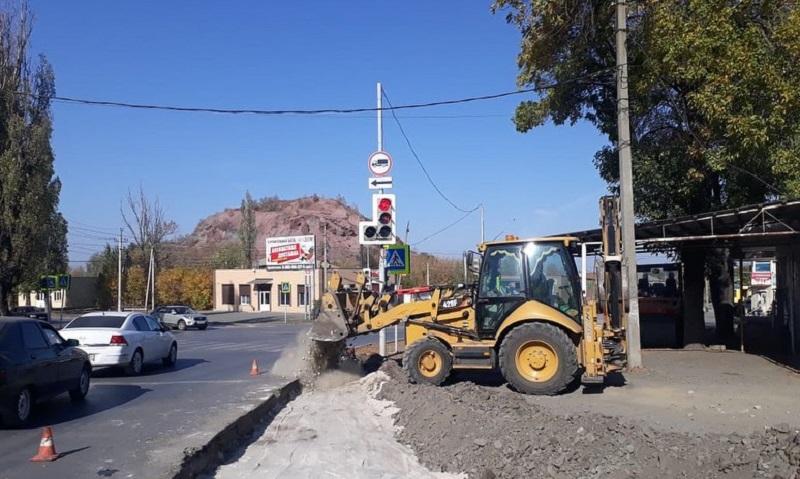 Начат ремонт дороги по улице Красинской г.Шахты