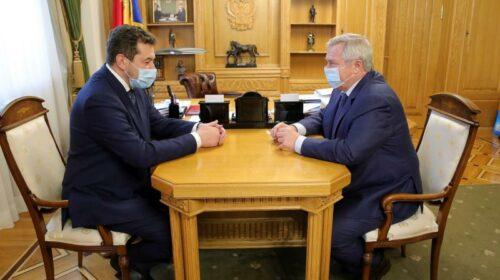 Василий Голубев  обсудил с новым начальником СКЖД вопросы развития железнодорожного сообщения на Дону